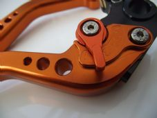 KTM  625 SMC CNC levers set short all orange alloy and orange adjusters DB12/C31